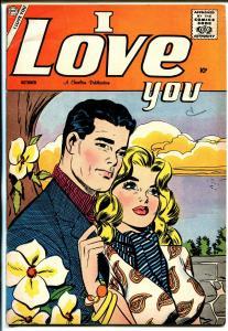 I Love You #20 1958-Charlton-stylish moody romance thrills-nice cover pose-FN
