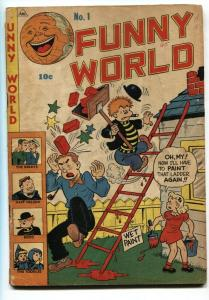 FUNNY WORLD #1-1947-THE BERRYS-HAFF NELSON-First issue