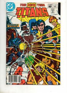 NEW TEEN TITANS #34, VF/NM, DeathStroke, Perez, DC 1980 1983, more in store, UPC