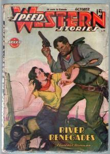SPEED WESTERN STORIES 1945 OCT-GREAT SPICY PULP! G/VG