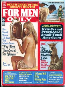 For Men Only Magazine January 1973- Asian Dope Trade- Cheesecake