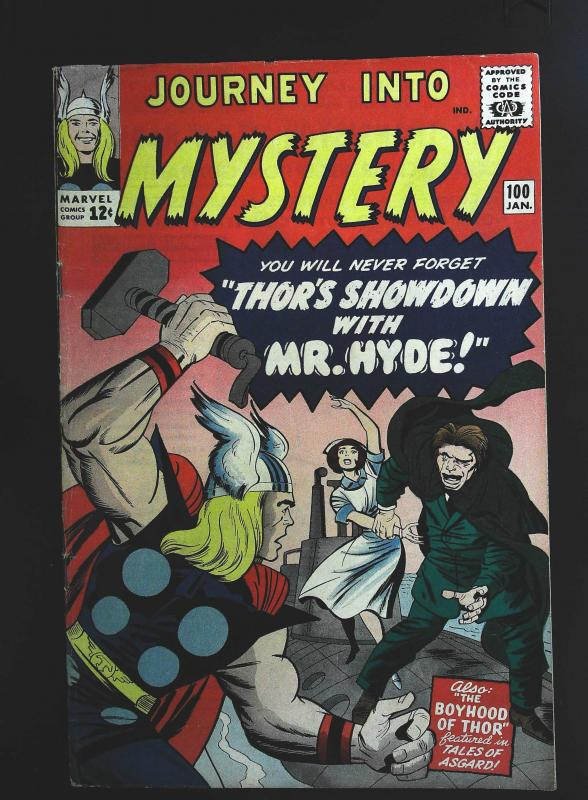 Journey into Mystery (1952 series) #100, Fine- (Actual scan)