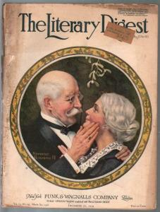 Literary Digest 12/20/1919-early Norman Rockwell art cover-rare-G
