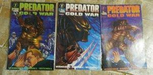 PREDATOR   COLD WAR # 1,3,3,4   1993 DARK HORSE