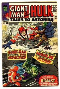 TALES TO ASTONISH #63 comic book -1965-HULK-KIRBY-SILVER AGE-MARVEL-VG