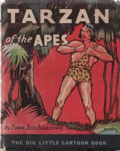 TARZAN OF THE APES-1933-WHITMAN BLB-#744-E R BURROUGHS VG-