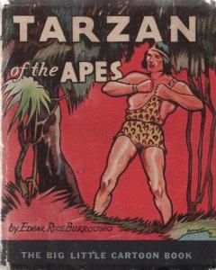 TARZAN OF THE APES-1933-WHITMAN BLB-#744-E R BURROUGHS VG-