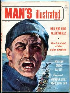 Man's Illustrated Magazine #1 July 1955-FIGHTING INDIAN-ELECTRIC CHAIR G/VG