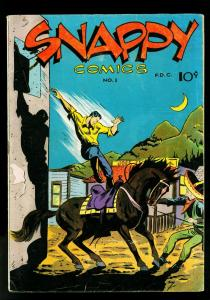 Snappy Comics #1 1945- Air Male- Beau Brummell- Socerer- FN-