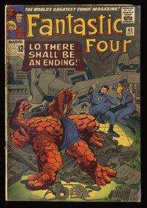 Fantastic Four #43 GD/VG 3.0