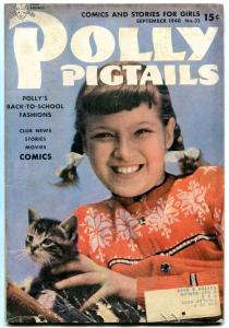 POLLY PIGTAIL #32 1948- Golden Age comic for Girls- Kitten photo cover VG/F