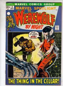 Marvel Spotlight on Werewolf by Night #3 (May-72) VF/NM+ High-Grade Werewolf
