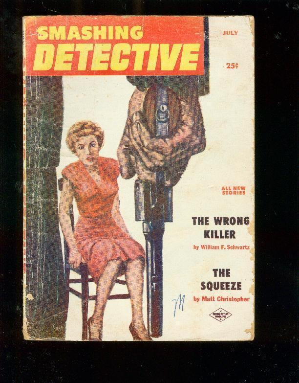 SMASHING DETECTIVE STORIES PULP-JULY 1956-JIM HARMON    G/VG
