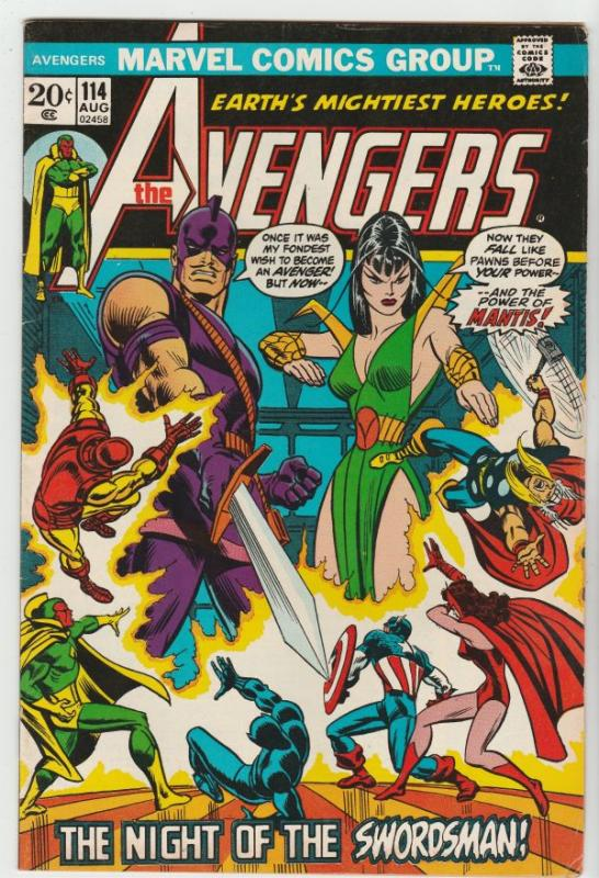 Avengers, The #114 (Aug-73) VF+ High-Grade Avengers