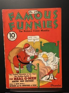 Famous Funnies #29 (1936) G/ VG 3.0 Christmas Cover