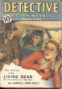 Detective Fiction Weekly Pulp CRIME-April 24 1937-BULLDOG DRUMMOND-CARROLL JOHN