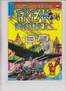 Freak Brothers #6 FN knockabout comics british import - gilbert shelton 1980
