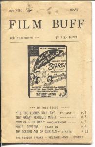 Film Buff  #48-12/1976-Ted Reinhart Western Album-historic film info-VG