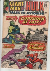 Tales to Astonish #61 (Nov-64) VG+ Affordable-Grade Giant-Man, Hulk