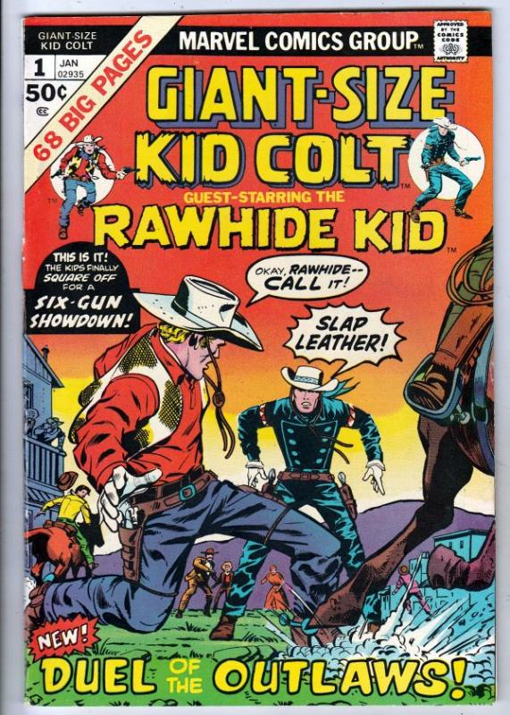 Giant-Size Kid Colt #1 (Jan-75) VF/NM High-Grade Kid Colt