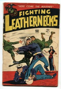 FIGHTING LEATHERNECKS #1-1952-QUIGLEY & BEALS-FULL PAGE PIN-UPS-JACK SPARLING-VG