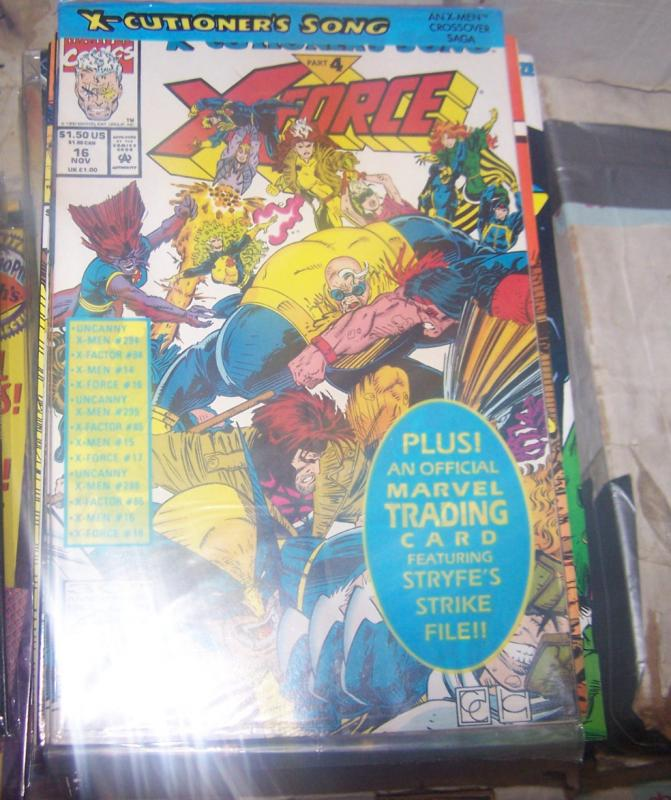 X-Force #16 (Nov 1992, Marvel) x-cutioners song pt 4 greg capullo**