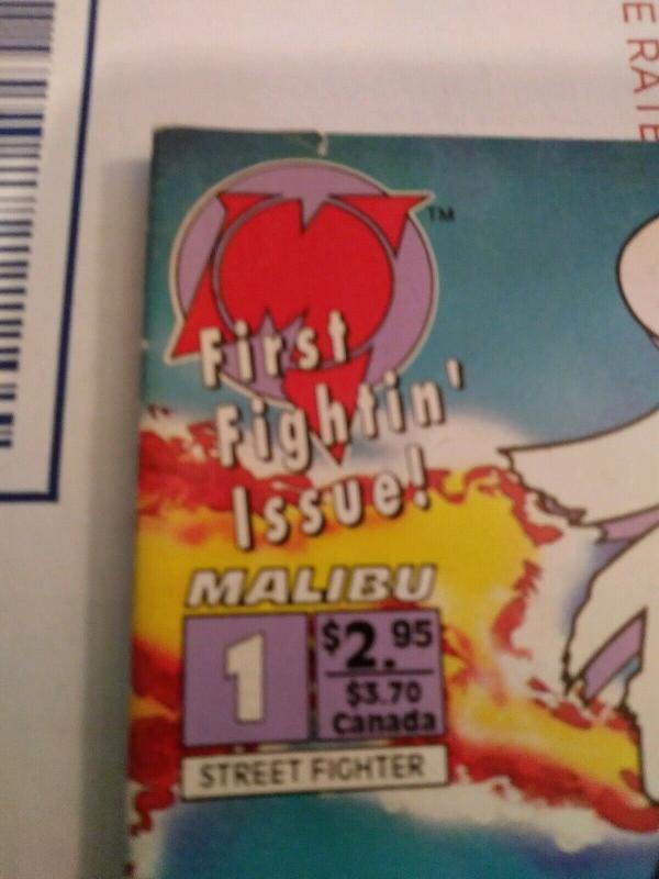 STREET FIGHTER #1  FIRST COMIC BOOK APP OF RYU, CHUN LI, KEN, ETC MALIBU  1993