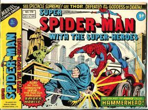 Super Spider-man #179 1978-Marvel-Thor-Ironman-Dr Strange-VG