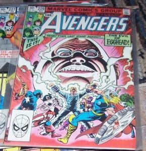 Avengers # 229 Mar 1983, Marvel) HENRY PYM LAST STAND EGGHEAD +SHE HULK THOR