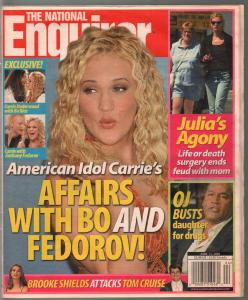 National Enquirer 6/13/2005-Carrie Underwood-Julia Roberts-Tom Cruise-VG