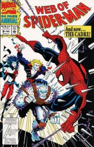 Web of Spider-Man (1985 series) Annual #9, VF+ (Stock photo)