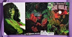 Alex Ross IMMORTAL SHE-HULK #1 Timeless Variant + 2 More Variants (Marvel, 2020)