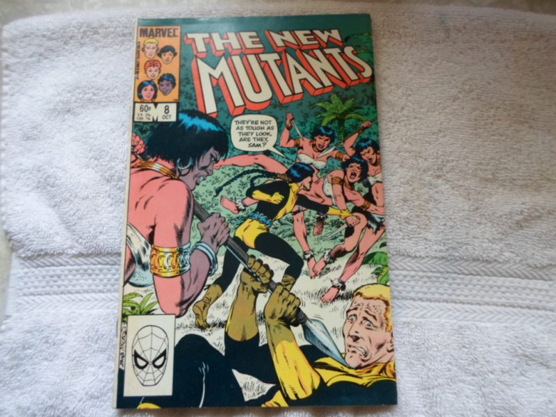 1983 MARVEL COMICS THE NEW MUTANTS # 8