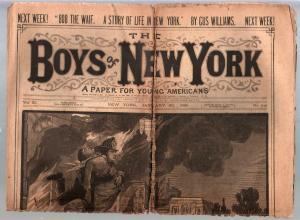 Boys Of New York-Dime Novel-Story Paper #546 1/30/1886-Frank Tousey-FR