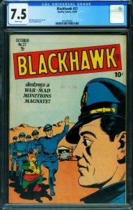 Blackhawk #27 CGC 7.5 1948- Death-Demons- Golden Age 2001004003