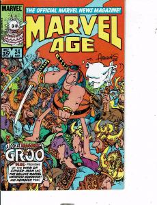 Lot Of 2 Marvel Age Marvel Comic Book #24 61  AB5