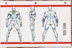 Official Handbook of the Marvel Universe Sheet - White Tiger