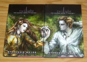 Twilight: the Graphic Novel HC 1-2 VF/NM complete series - stephenie meyer set