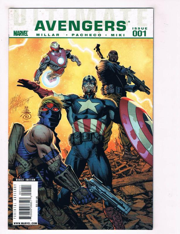 Avengers #001 NM Marvel Comics Comic Book Millar Captain America 2009 DE30