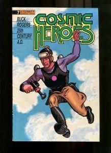 COSMIC HEROES 7-1989-MAN WITH GUN-NEWSPAPER RE-PRINTS VG