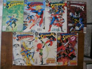 7 DC Comic: ADVENTURES OF SUPERMAN #500 502 SUPERMAN #79 87 91 SUPERBOY #2 3