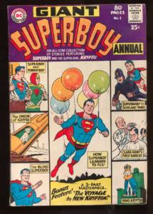 Superboy (1949 series) Annual #1, VG (Actual scan)