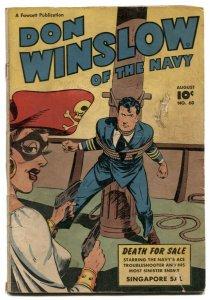 Don Winslow #60 1946- Fawcett Golden Age VG-