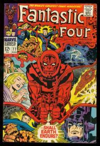 FANTASTIC FOUR #77 1968-MARVEL COMICS-JACK KIRBY-THING VF