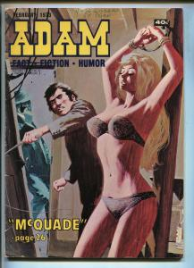 ADAM 2/1973-KENMORE PRESS-WHIPPING-BONDAGE-TORTURE-HARD BOILED PULP FICTION-vg+