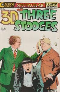 3-D - THE THREE STOOGES #2 - 3-D COMIC FROM ECLIPSE