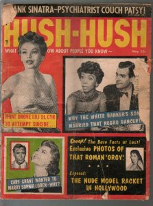 Hush-Hush 5/1959-Lili St Cyr suicide attempt-Sophia Loren-Sinatra-P