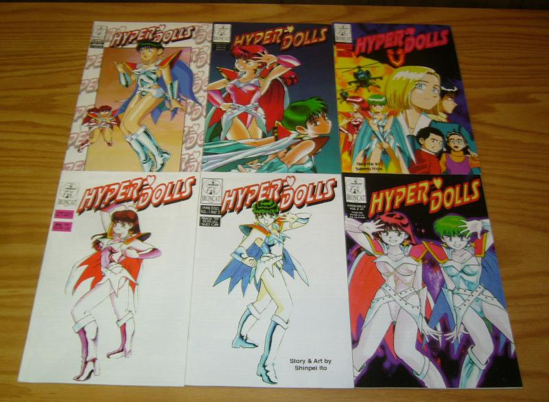 Shinpei Itoh's Hyper Dolls vol. 2 #1-6 VF/NM complete series  ironcat manga set