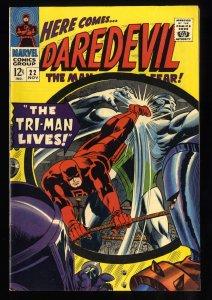 Daredevil #22 VF+ 8.5 White Pages