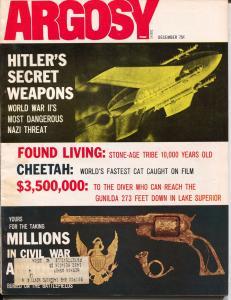 Argosy 12/1971-Popular-Hitler's Secret Weapons-Stone Age Tribe-pulp thrills-FN